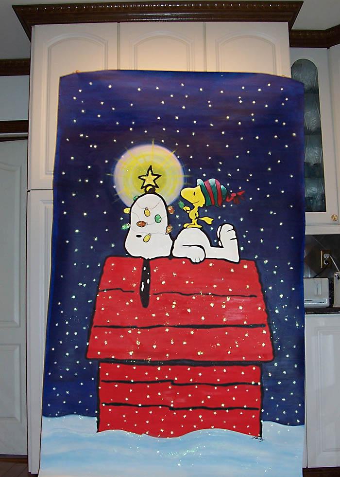 Snoopy Christmas Mural